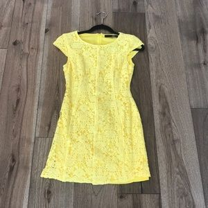 Small Yellow Lace Dress